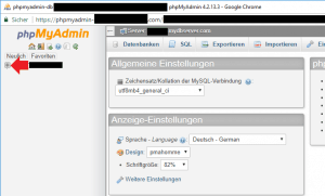 PHPMyAdmin Datenbanken ausklappen