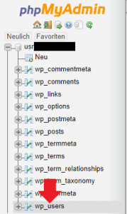 PHPMyAdmin_wp_usertable