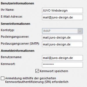 Outlook Konto Einstellungen